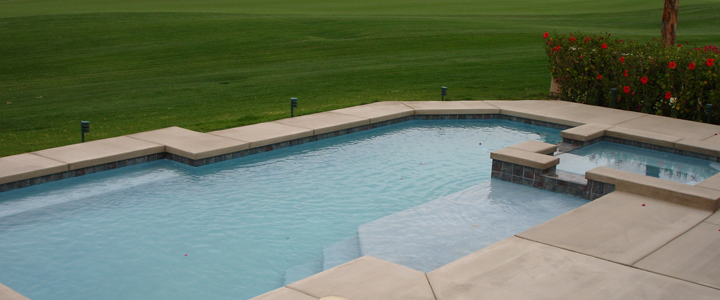 Endless pool installed by Vacation Pools, Inc.